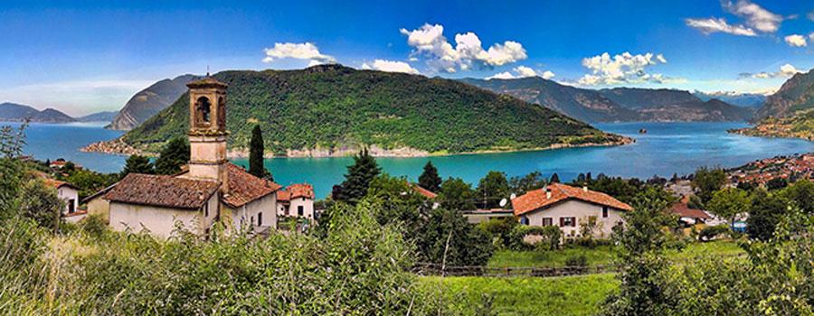 Il Lago d'Iseo, facilmente raggiungibile dall'Hotel Noce di Brescia